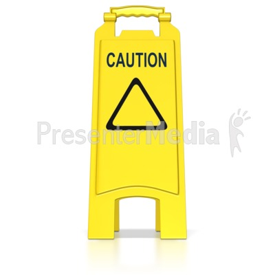 Floor Caution Sign Presentation clipart