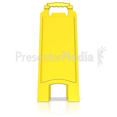 Blank Floor Caution Sign Presentation clipart