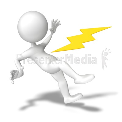 Shocked With Electricity Presentation clipart