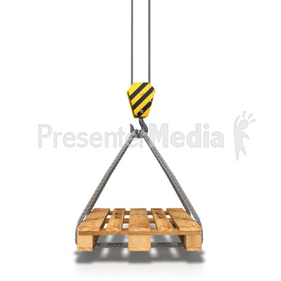 Hook Crane Carrying Pallet Presentation clipart
