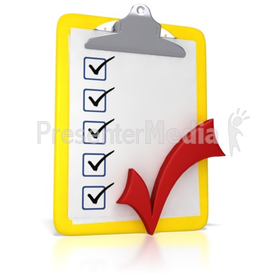 Clipboard With A Checkmark Presentation clipart