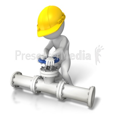 Construction Pipes Turn Valve Presentation clipart