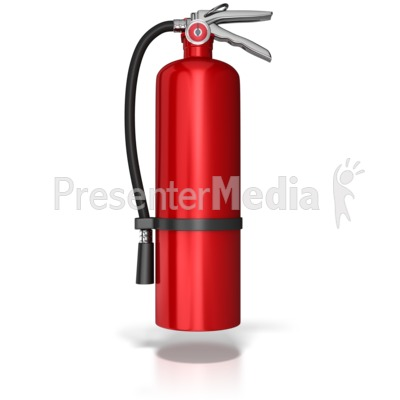 Hanging Fire Extinguisher Presentation clipart