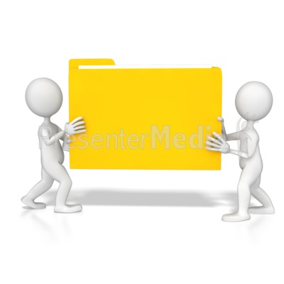 Stick Figures Carrying Folder Presentation clipart