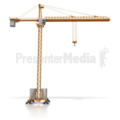 Construction Crane Side View Presentation clipart