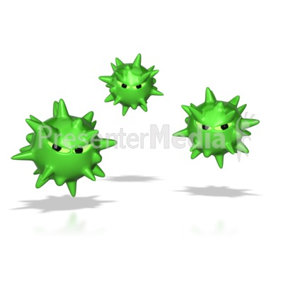 Virus Spores  Presentation clipart