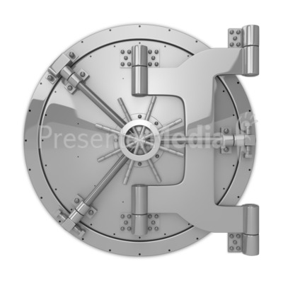 Locked Vault Presentation clipart