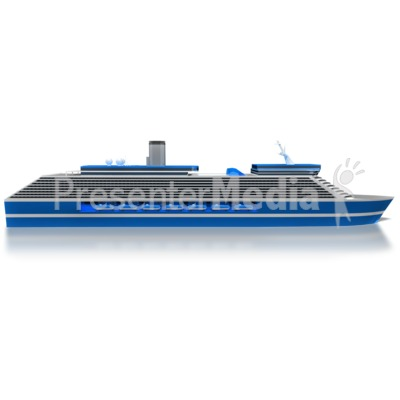 Cruise Ship Side Presentation clipart