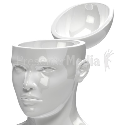 Open Head Empty Presentation clipart