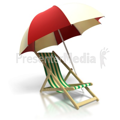 Beach Chair Umbrella Presentation clipart