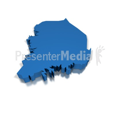 3d South Korea Presentation clipart
