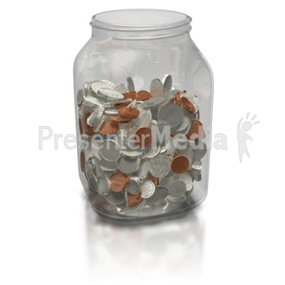 Coin Jar Presentation clipart