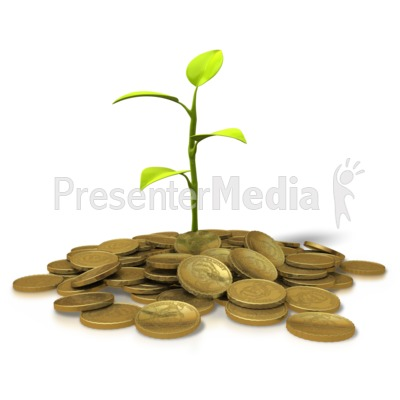 Coins Investment - Plant Presentation clipart