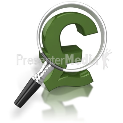 Magnified Pound Presentation clipart