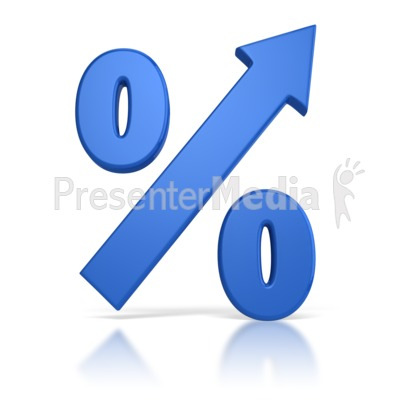 Percentage Going Up Presentation clipart