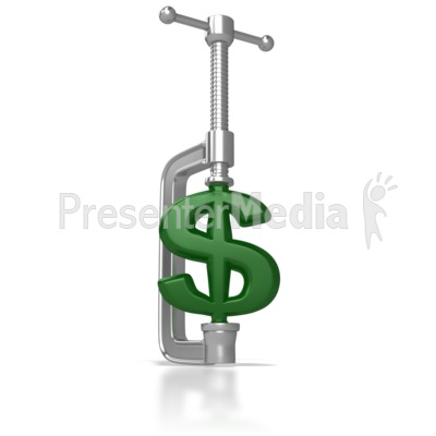 Clamping Down On The Dollar Presentation clipart