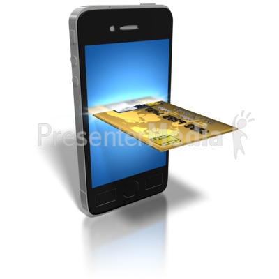Smart Phone Credit Card Presentation clipart