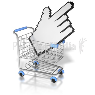 Click On The Shopping Cart Presentation clipart