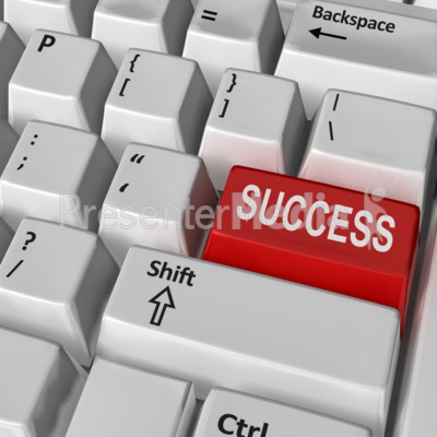 Keyboard Success Key Presentation clipart