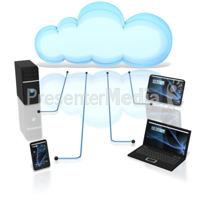 Devices Connected To Cloud Presentation clipart