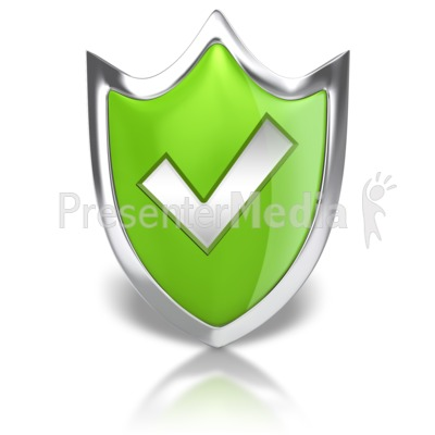 Shield Check Mark Presentation clipart