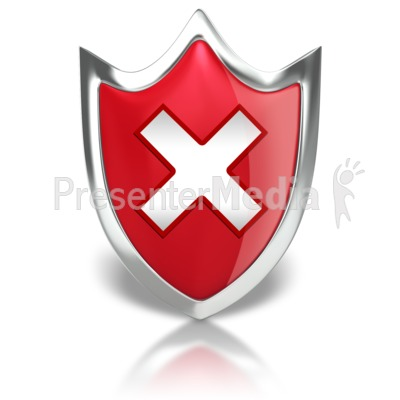 Shield X Warning Presentation clipart