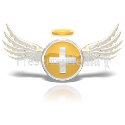 Positive Angel Button Presentation clipart