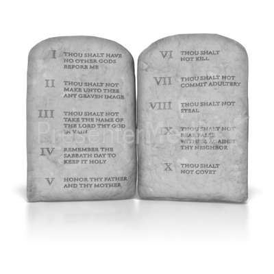 Ten Commandments Presentation clipart