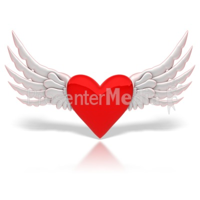 Winged Heart Presentation clipart