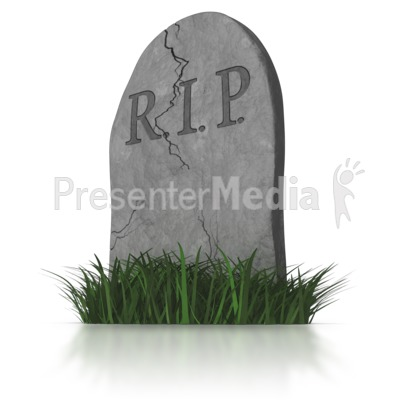 RIP Head Stone - Signs and Symbols - Great Clipart for