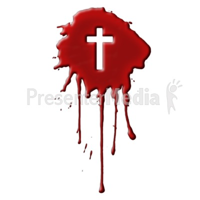 Blood With Cross Presentation clipart
