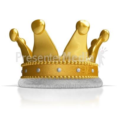 A Kings Crown Presentation clipart