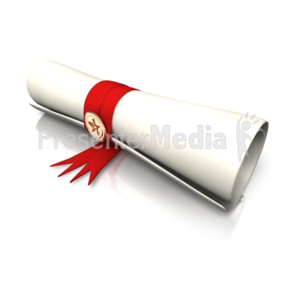 Single Diploma Presentation clipart