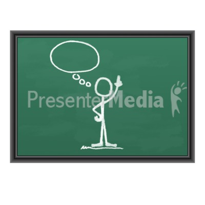 Chalk Figure Blank Idea Bubble Presentation clipart