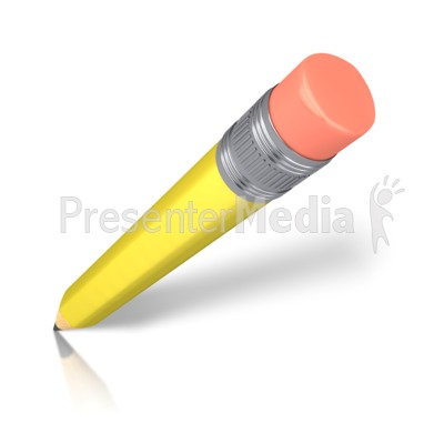 Angled Pencil Presentation clipart