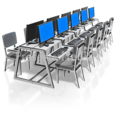 Computer Lab Presentation clipart