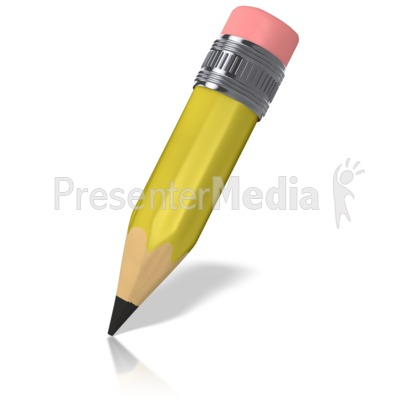 Cartoon Pencil Presentation clipart