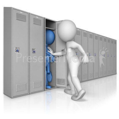 Stuffed into Locker by Bully Presentation clipart