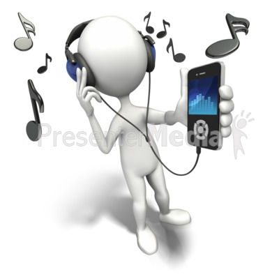 Listening To Music Player Presentation clipart