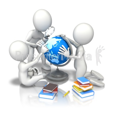 Children School Study Earth Presentation clipart