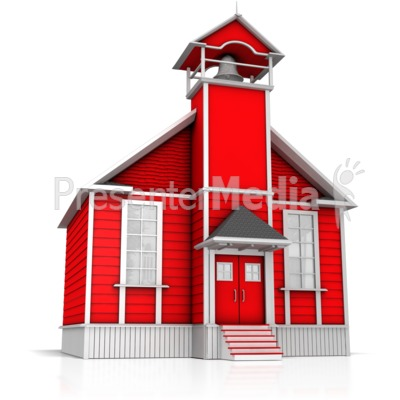 Old Fashion School House Presentation clipart