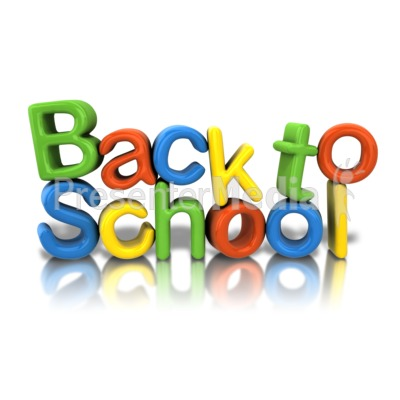 Back To School Text Presentation clipart