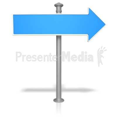 Blank Street Sign Presentation clipart