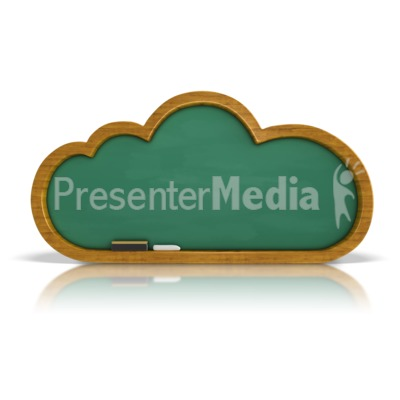 Chalkboard Cloud Presentation clipart