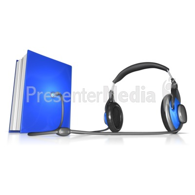 Plugged into Audiobook  Presentation clipart