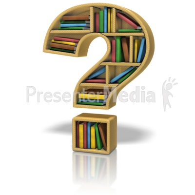 Question Mark Bookshelf Presentation clipart