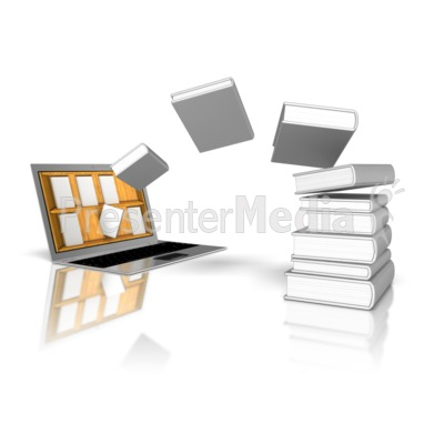 Download Books Online Library Presentation clipart