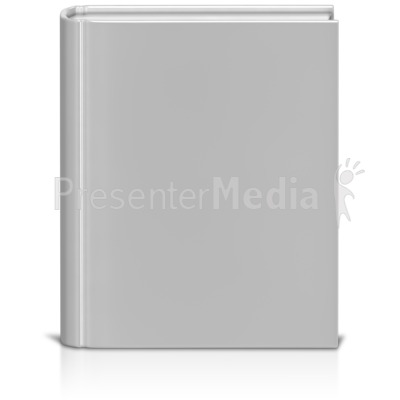 Front Facing Book White Presentation clipart