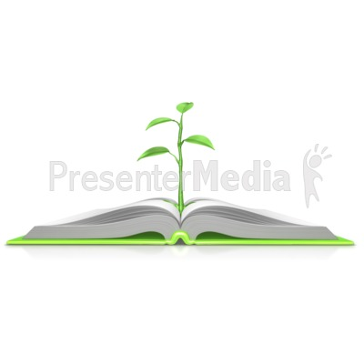 Plant Growing Out Of Book Presentation clipart