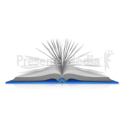 Open Book Pages Presentation clipart